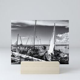 Dhow Boats Stone Town Port Zanzibar Mini Art Print