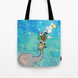 Reaching for the star Tote Bag