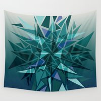 cracked Wall Tapestries featuring Cracked Icicles by AJJ ▲ Angela Jane Johnston