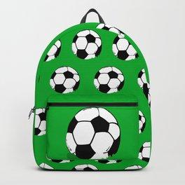 Soccer Ball In Grass Printmaking Art Backpack