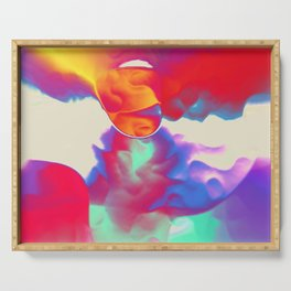 Rainbow Clouds Serving Tray