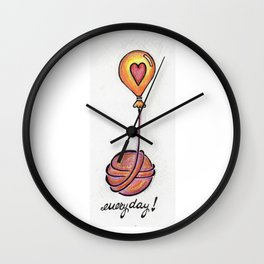 I Love Yarn Everyday! Wall Clock