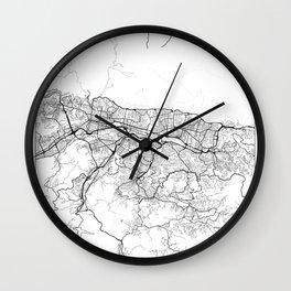 Caracas Map White Wall Clock