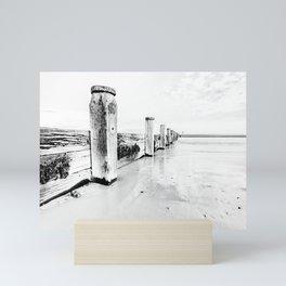 sea defence Redcar Mini Art Print