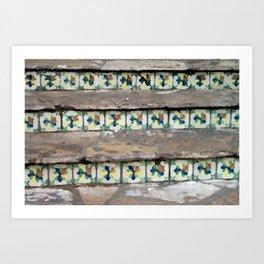 Tile Hiding in Stairs Art Print