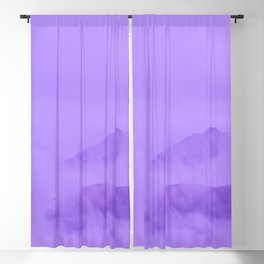 Lilac Fog Surrounding Anchorage Mountains Blackout Curtain