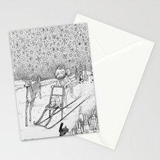 Kick-sledding Fox Stationery Cards