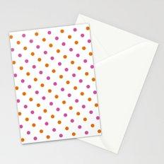 Fun Dots pink orange Stationery Cards