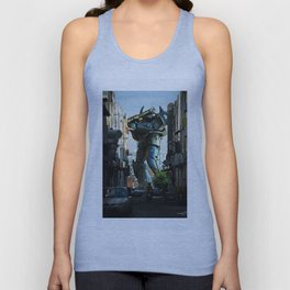 Mech behind a back alley Unisex Tank Top