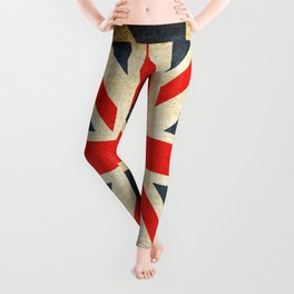 Vintage Union Jack British Flag Leggings