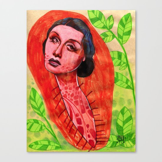 SAD CHRYSALIS Canvas Print