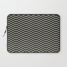 Gold And Navy Zig Zags Laptop Sleeve