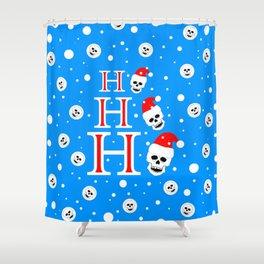 Skull Ho Ho Ho Shower Curtain