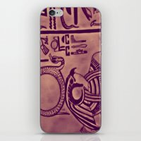 egyptian iPhone & iPod Skins featuring Egyptian (Horus) by Aaron Carberry