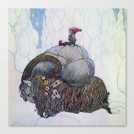 """The Julbock"" Christmas Goat by John Bauer Canvas Print"