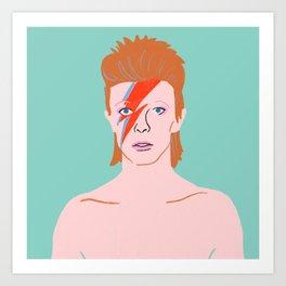 Bowie Ziggy Star Dust Art Print