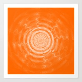 Ripples_Orange Art Print