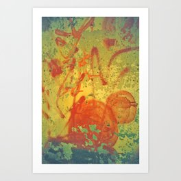 Red on Wall Art Print