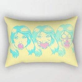 Hot Pink. Rectangular Pillow