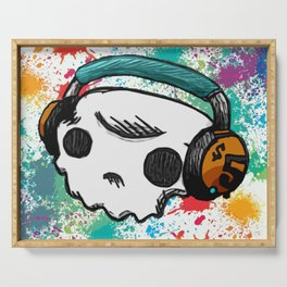 Skull headphones Pure Candy Serving Tray