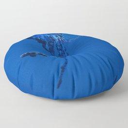 Fish and friend jellyfish Man O´War Floor Pillow