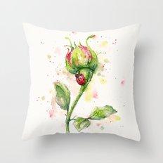 Ladybug Lane Throw Pillow