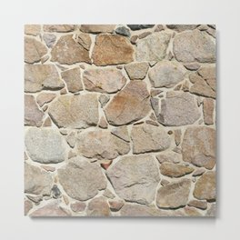 old quarry stone wall Metal Print