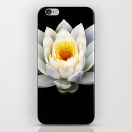 White Lotus Black Water iPhone Skin