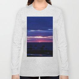 Purple Sunset over Sea Long Sleeve T-shirt