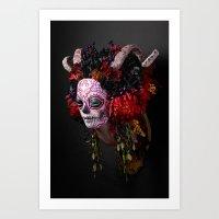 Midnight Muertita Harvest Art Print