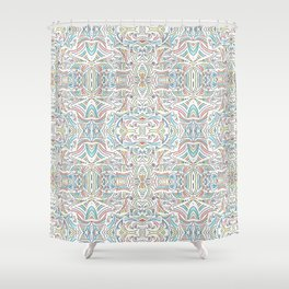 Tiny Little Lines Repeating Pattern Shower Curtain