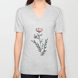Flower Power Unisex V-Neck