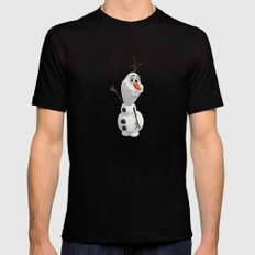 Olaf X-LARGE Mens Fitted Tee Black