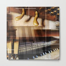 The piano collage Metal Print