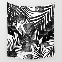 Tropical Jungle Leaves Pattern #10 #tropical #decor #art #society6 Wall Tapestry