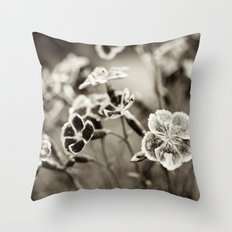 Where Wild Bee Wings Fly Throw Pillow