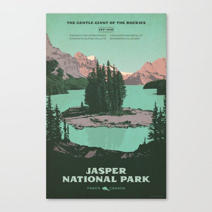 Jasper National Park Poster Canvas Print