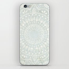 Powder Blue Mandala iPhone Skin