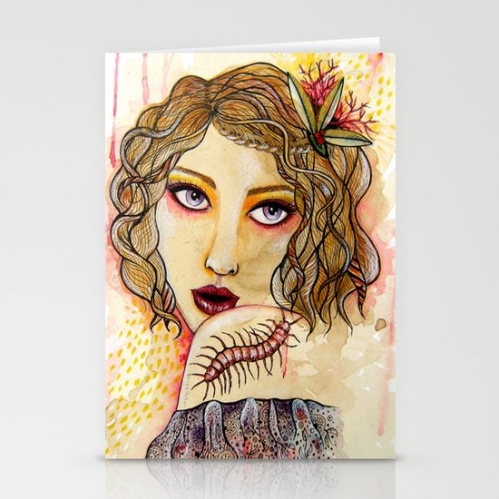 Cecilia and the Centipede Stationery Cards