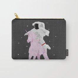 Astronaut Riding a Unicorn - Simplistic Art Carry-All Pouch