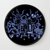 bmo Wall Clocks featuring BMO by Daniel Delgado