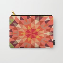 Peach Retro Geometry Carry-All Pouch