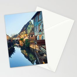 Colorful romantic city Colmar, France, Alsace. Traditional house Stationery Cards