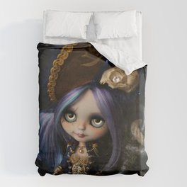 LADY BUCCANEER PIRATE OOAK BLYTHE ART DOLL Duvet Cover