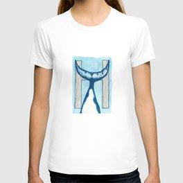 H is for Humpback Whale Letter Alphabet Decor Design Art Pattern T-shirt