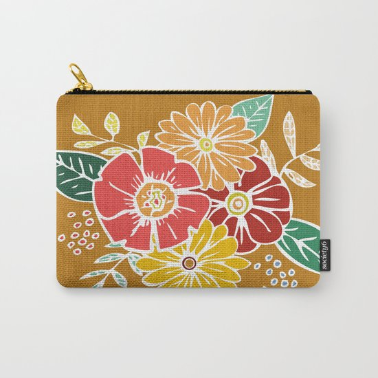 Abstract #369 Flower Power #9 Carry-All Pouch