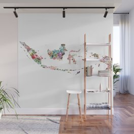 Indonesia map Wall Mural