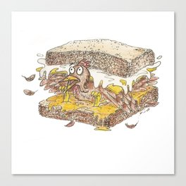 The Terrifying Sandwich Canvas Print