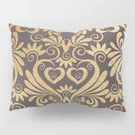 Gold swirls damask #5 Pillow Sham