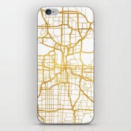 KANSAS CITY MISSOURI CITY STREET MAP ART iPhone Skin